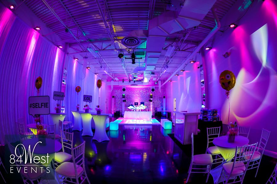 Leah And Jayla S Emoji Bat Mitzvah Theme A9 Event Spacea9 Event Space