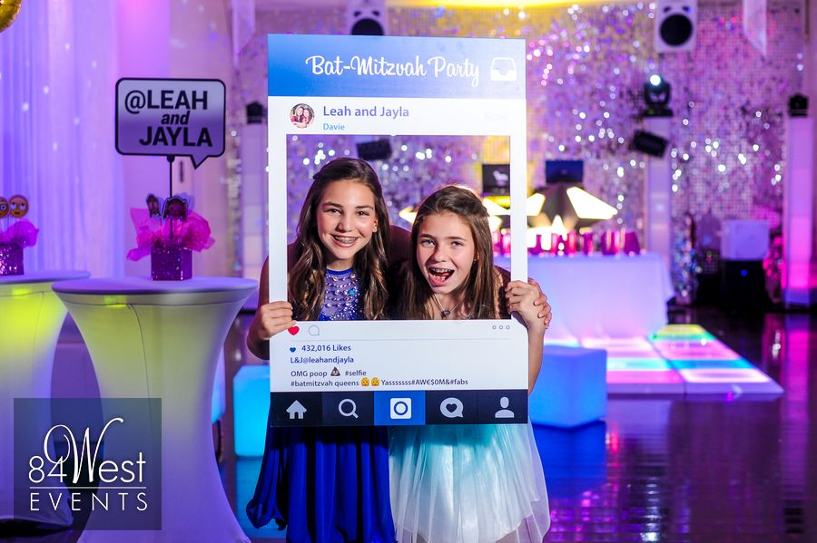 Leah And Jayla S Emoji Bat Mitzvah Theme A9 Event