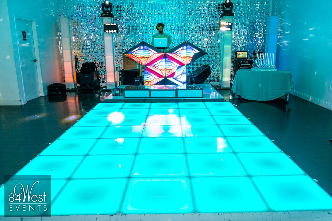 Bar mitzvah decor south florida mitzvah production by 84 west events - Led Dance Floor Rental South Florida For Bar And Bat Mitzvahs